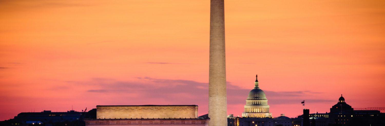 Evening scene in Washington, D.C.