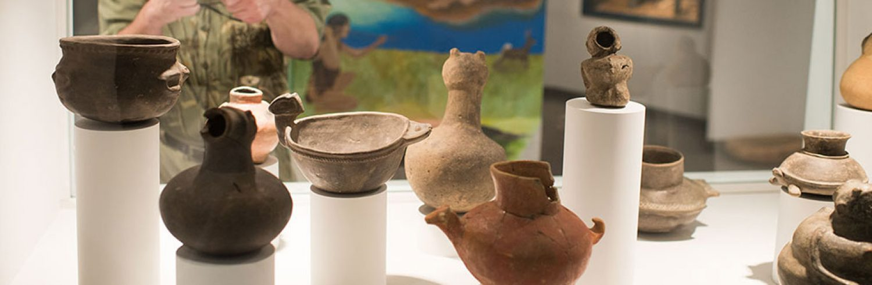 Mississippian (AD 900 – mid 1500s) ceramic effigy vessels.