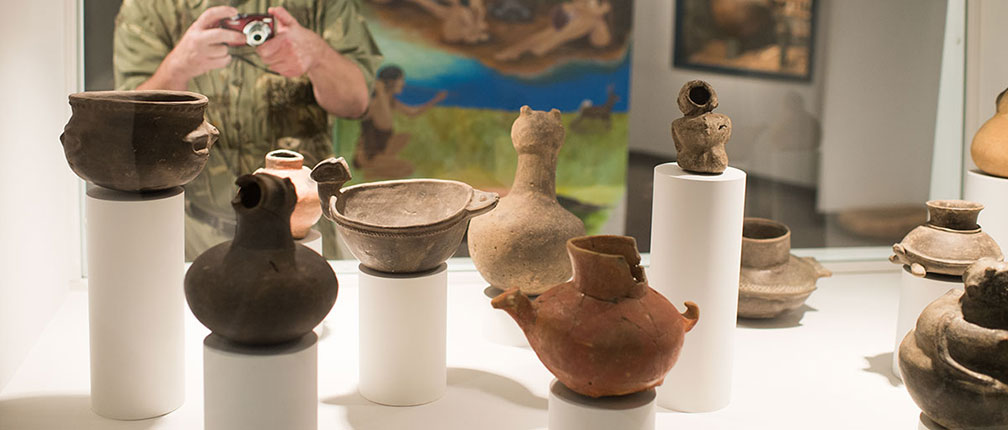 Mississippian (AD 900 – mid 1500s) ceramic effigy vessels.