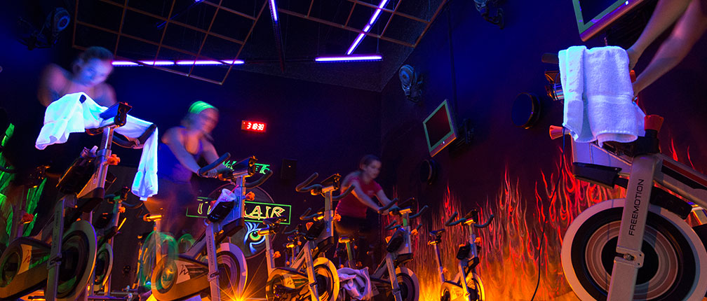 A spin class in the Tiger Lair of MizzouRec