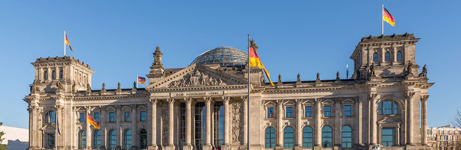Reichstag building, Berlin, Germany.