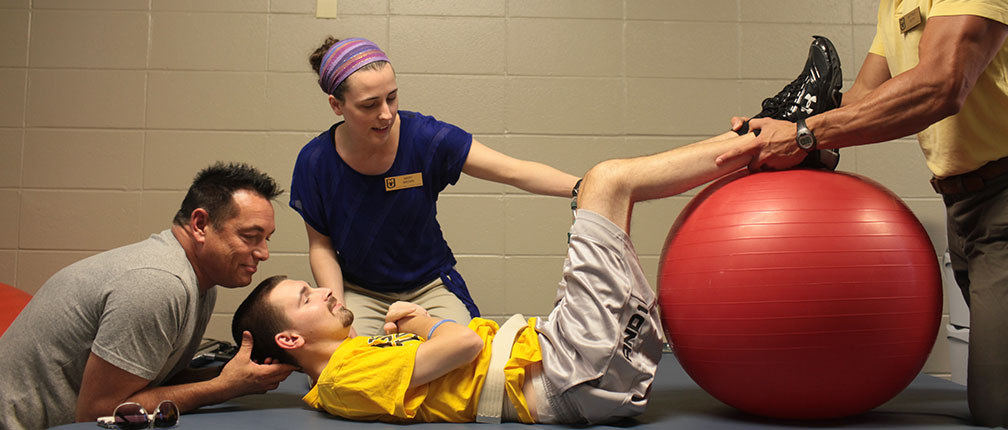 The School of Health Professions runs a free physical therapy clinic to train it's PhD physical therapy students.