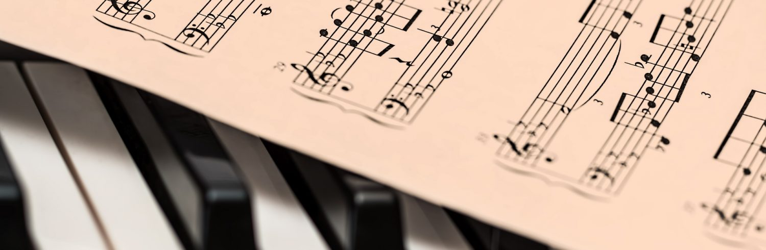 Piano and sheet music